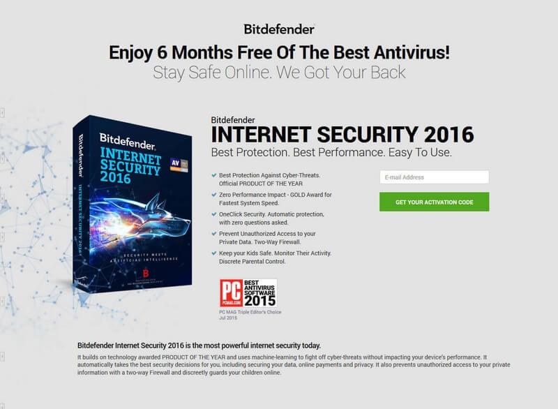 Bitdefender Internet Security 杀毒软件[$80→0]-正版中国