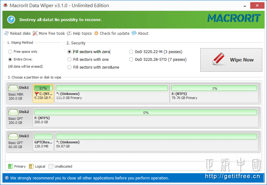 Macrorit Data Wiper Pro-数据擦除软件[→0]