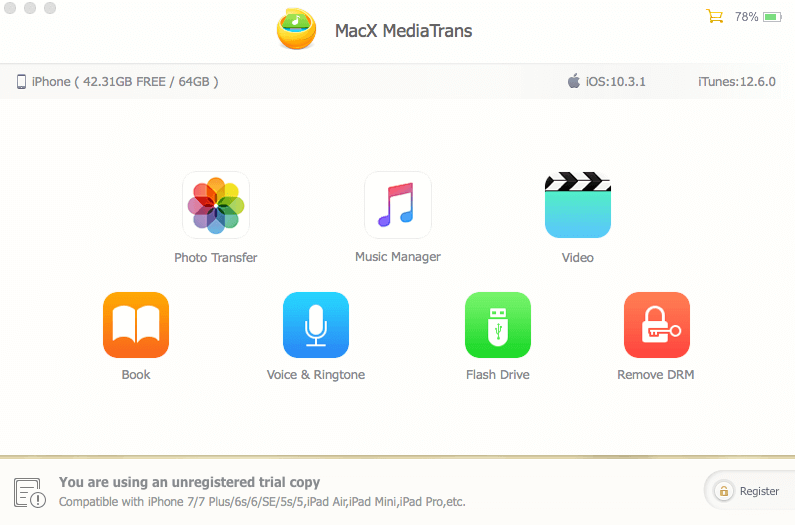 MacX MediaTrans-iOS数据传输软件[$60→0]-正版中国